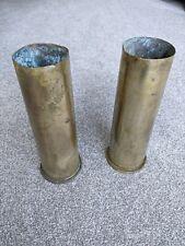 More details for one artillery shell case 1974 brass vase - see description for listing details