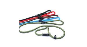 Dog Figure 8 Slip Lead 13mm x 1.5m Neon Green, Black, Blue, Brown, Olive, Red