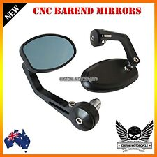 2x Black Reverse Retro CNC Bar End Mirrors Triumph Speed Triple 1050 07-10 12