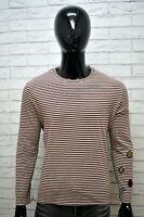 Maglia a Righe Uomo GAS Taglia L Shirt Man Polo Manica Lunga Camicia Cotone Top