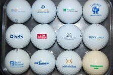 Vintage set of 12 GOLF BALL LOGO Bank Financial Mortgage Credit Union Funds