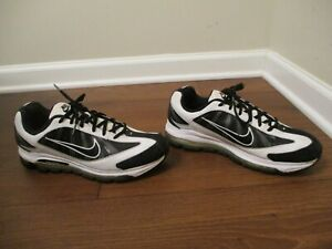 Used Worn Size 10.5 Nike Air Max Prevail Flywire Shoes White Black 443942 100