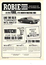 1968 FORD TORINO SS/B   ~   RARE ORIGINAL ROBIE FORD DEALER AD