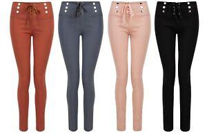 Ladies Girls Womens Leggings Jeggings Skinny Slim Pants Size Trousers NEW Biker