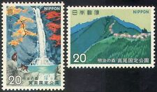 Japón 1973 Meiji-no-Mori National Park/monos/Cascada/montañas 2v Set n23740