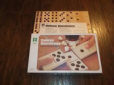 Vintage Large Hand-Crafted Natural Wood Block Deluxe Jumbo Dominoes Set No 4931