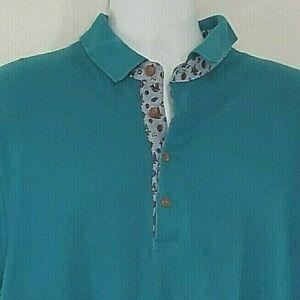 OshKosh B'gosh Men's Shirt Polo Large Green Cotton Short Sleeve