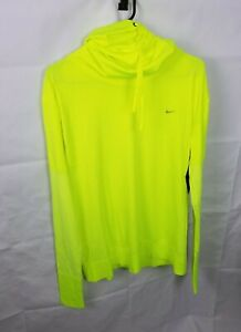 NWT Nike Dri Fit Knit Infinity Cover-Up Pullover Volt 620382-702 Womens XL $110
