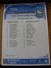 09/03/2011 Ipswich Town YOUTH V Birmingham City Youth [a] playford su strada (Colore