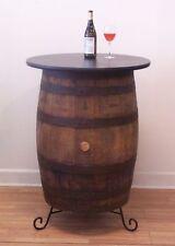 Vintage White Oak Barrel Table -Wine Tasting-Bistro-Bar-Pub-Home