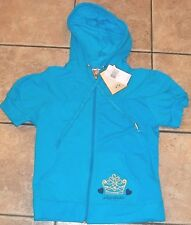 JUICY COUTURE~TEAL LOGO HOODIE Jacket sz XL~NWT $198 Hooded Full Zip Aqua Blue