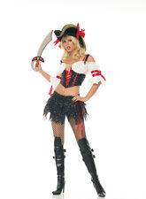 PIRATE BUCCANEER marauder peasant blouse sexy womens halloween costume M 8-10