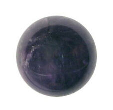 CARVED - AMETHYST 18mm Crystal Ball (Sphere) w/ Description Card - Healing Stone