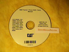 Sebp1626 New Cat Caterpillar D8N Power Shift Tractor Dozer Parts Manual Book Cd