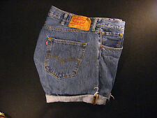LEVIS 501 Vintage Button-Fly CUTOFF JEAN SHORTS Cut Off W 37 MEASURED High Waist