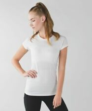 New Lululemon Swiftly Tech Short Sleeve Crew 1.0 White Size 4 Nwt Discontinued