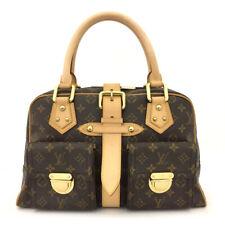 100% Authentic Louis Vuitton Monogram Manhattan GM Hand Bag /6042G