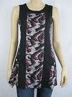Crossroads Ladies Sleeveless Spliced Animal Jacquard Tunic Dress sizes 8 16 20