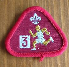 Scout Cub Scout cloth badge Athlete Stage 3
