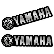 2 YAMAHA AUFKLEBER SILBER STICKERS AUTO MOTO GP SPORT MOTORRAD RACE TUNING B 222