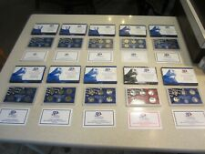 10 Sets •1999-2008 • US MINT 50 PROOF SETS with STATE QUARTERS • Box & COA