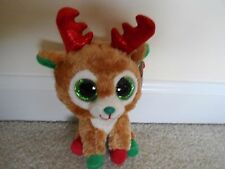 "Ty,Alpine,Christmas Beanie Boo. 6"" VERY POPULAR Reindeer 2015 Release! NEW/TP'd!"