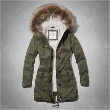 Abercrombie & Fitch Womens meg Fur Lined Parka/coat Small