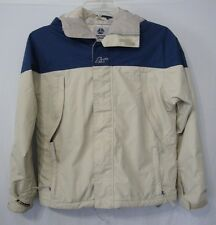 Burton Snowboard Toast Womens XS Jacket Blue Cream Hood Full Zip Used