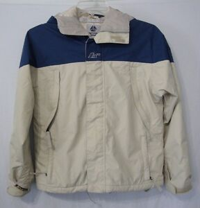 Burton Snowboard Toast Womens XS Jacket Blue Cream Hood Full Zip Used