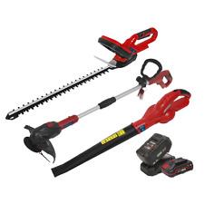 Sealey 20V Garden Power Tool Kit 2 Batteries LEAF BLOWER STRIMMER TRIMMER