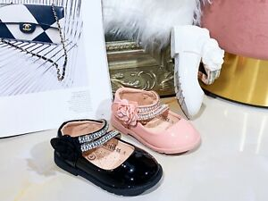Girls Baby Toddler Spanish Wedding Style Flats Party Casual Shoes Size