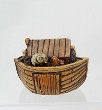 Vintage Hand Painted Noah's Ark Nursery Toy Artisan Dollhouse Miniature 1:12