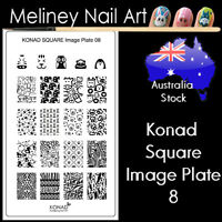 Konad Square Image Plate 8 for Stamping Nail Art Transfer Stencils Animals
