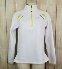 Womens Pearl Izumi Select Series Cycling 1/4 Zip Pullover Jacket white lime Sm.