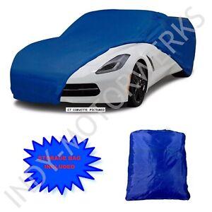 C8 CORVETTE STINGRAY SEMI CUSTOM CAR COVER BLUE 2020 AND LATER