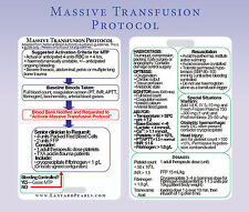 Massive Transfusion Protocol Trauma - Medical Nursing Lanyard Reference Card