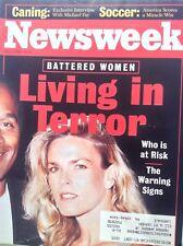 Newsweek Magazine O.J. Simpson Living In Terror July 4, 1994 091317nonrh