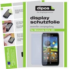 2x Motorola Atrix HD Schutzfolie matt Displayschutz Folie Antireflex Passgenau