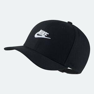 Nike Classic99 Black White Snapback Hat Cap Futura AV6720-010   Men's Women's