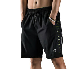 RockBros Men Fitness Exercise Shorts Running Yoga Gym Sport Shorts Black