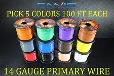 14 GAUGE WIRE ENNIS ELECTRONICS 100 FT EA PICK 5 COLORS CABLE AWG COPPER CLAD