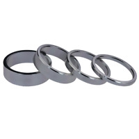 CLEARANCE ABR Upside Bike Alloy Headset Spacers 28.8mm 3/5/8/10mm Silver