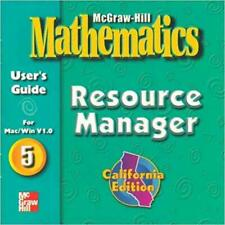 McGraw-Hill Mathematics: Resource Manager 5 PC MAC CD organize worksheets tests