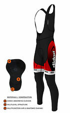 Didoo Mens Performance Cycling Bib Tights Winter Padded Leggings Long Trousers L
