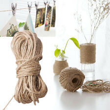 Natural Burlap Hessian Jute Twine Cord Hemp Rope String Rustic Wrap Gift Packing