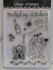 Birthday Wishes Just For You Clear Stamps 13 Designs (1708) Cardmaking Crafts