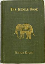 1894 THE FIRST JUNGLE BOOK Antique 1ST PRINTING Rudyard KIPLING us RARE EDITION