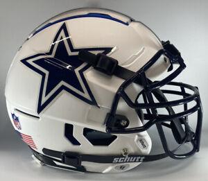 Dallas Cowboys Custom Full Size Authentic Schutt F7 Football Helmet Matte White