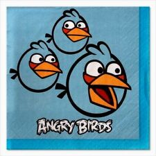 16 Angry Birds BEVERAGE NAPKINS Birthday School Class Party         7-7B