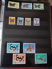 P600. Lot timbres oblitérés et neufs divers pays. Thème PAPILLONS